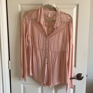 Free People Lace Blouse RARE